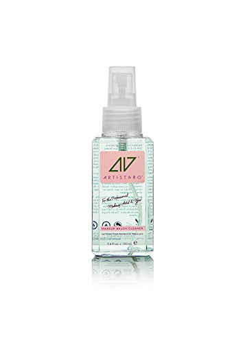 Artistpro All-In-One Professional Makeup And Hair Brush Cleaner, Makeup Remover And Hand Sanitizer (3.4 Fl Oz, Sea Cucumber)