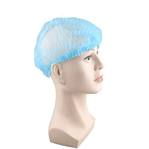 Indiabigshop Disposable Cap, Hair Net Cap,100Pcs, Elastic Free Size, For Cosmetics, Beauty, Kitchen, Cooking, Home Industries, Hospital