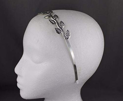 Silver Shiny Vine Laurel Branch Leaf Crown Leaves Headband Hair Band Goddess