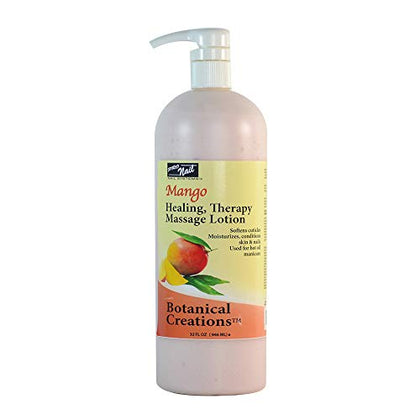 Pro Nail Botanical Massage Lotion Therapy (Mango, 32 Oz W/Pump)