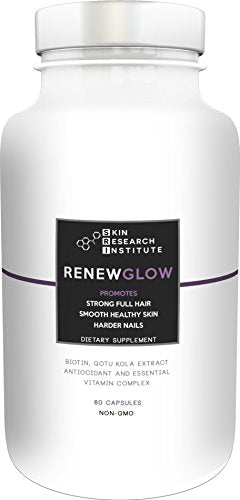 Renewglow - Anti Aging Supplement Fights Against Biotin Deficiency, Free Radicals And Prevents Oxidation To Restore Hair And Skin For A Healthy Glow