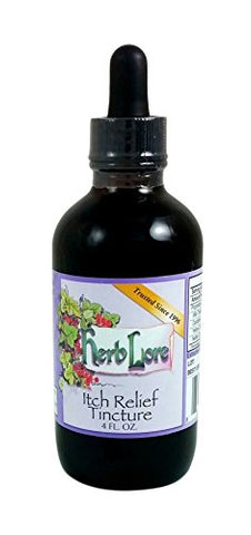 Herb Lore Organic Itch Relief Tincture - 4 Oz - Itch Relief For Puppp Pregnancy Rash And Itchy Skin Conditions