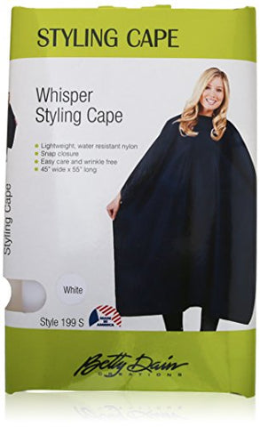 Betty Dain Whisper Styling Cape, White