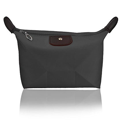 """Pure Acoustics Cosmetic Bag Toiletry Organizer Travel Portable Waterproof Pouch Bag, Black"""