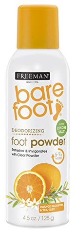 Freeman Bare Foot Powder Deodorizing Spray 4.5 Ounce (133Ml)