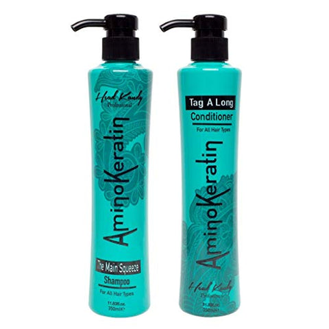 Head Kandy, The Besties, 12 Oz. Aminokeratin Shampoo &Amp; Conditioner Set, The Main Squeeze &Amp; Tag A Long, For All Hair Types