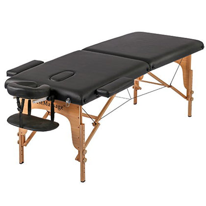 2  Pad 73  Pu Portable Massage Table W/Free Carry Case Bed Spa Facial