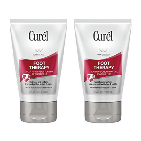 Curl Foot Therapy Cream, Soothing Cream For Dry &Amp; Cracked Feet, 3.5 Ounces Each