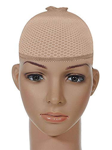 Xxtaxn Stocking Mesh Wig Caps For Men Women,Skin,2 Piece,