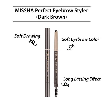Missha Perfect Eyebrow Styler Dark Brown