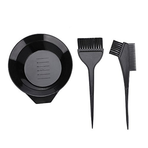 """Hair Coloring Brush, 3Pcs Bowl Set Professional Dyeing Perming Tools"""