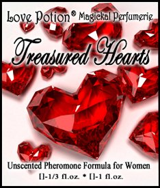 Love Potion: Treasured Hearts ~ Unscented Pheromone Blend For Women - 1/3 Fl.Oz. (10Ml)
