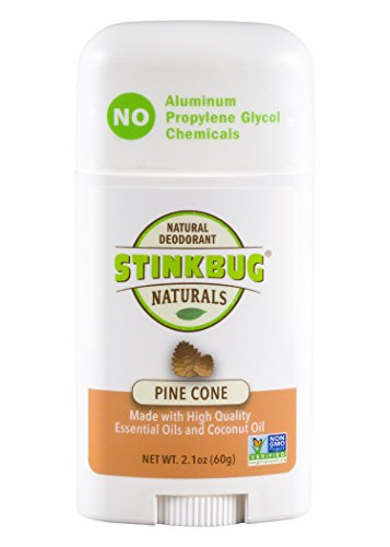 Stinkbug Naturals Aluminum Free Pine Cone All Natural Deodorant, 2.1 Ounce, Organic, Paraben Free