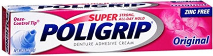 Super Poligrip Denture Adhesive Cream Original 2.40 Oz