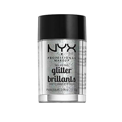 Nyx Professional Makeup Face &Amp; Body Glitter, Ice, 0.08 Ounce