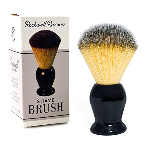 Rockwell Razors Synthetic Bristle Shave Brush With Premium Black Acrylic Handle - 20Mm Knot