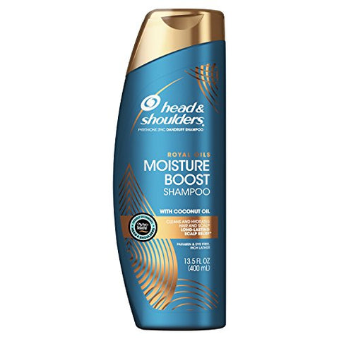 Head And Shoulders, Shampoo, Royal Oils Anti Dandruff Collection With Coconut Oil, For Natural And Curly Hair, 13.5 Fl Oz