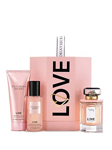 Victoria'S Secret Love 3-Piece Signature Gift Set, Edp,Shimmer Mist, Shimmer Lotion