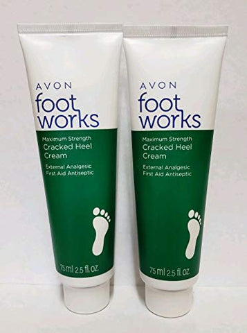 Avon Foot Works Maximum Strength Cracked Heel Cream - Lot Of 2