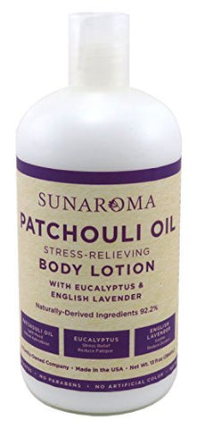 Sunaroma Lotion Body 13 Ounce Patchouli Oil (384Ml)