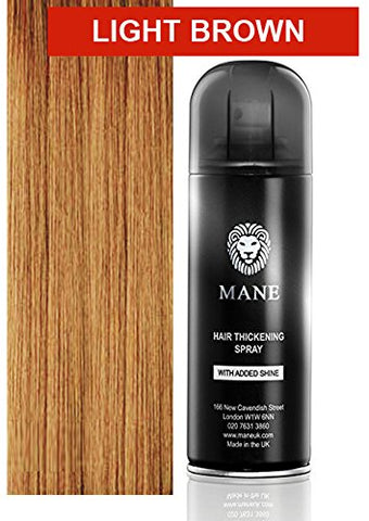 Mane Usa Hair Thickening Spray With Added Shine (200Ml) (Light Brown)