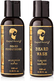 Beard Shampoo And Beard Conditioner Wash &Amp; Growth Kit For Men Care - Softener &Amp; Moisturizer For Grooming Hydrating, Strengthening, Cleansing And Refreshing Beard And Mustache Facial Hair Gift Set