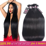 Malaysian Virgin Straight Hair Mink 8A 4 Bundles 16 18 20 22 Inches Unprocessed Human Hair Weave Bundles Malaysian Straight Hair Natural Color