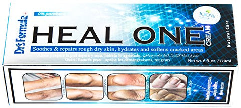 Dr'S Formula Heal One Cream: Hydrates And Softens Dry Cracked And Calloused Feet &Amp; Heel, Calms Redness And Irritation, Soothes, Repairs And Protects Rough Dry Skin (6 Oz Tube)
