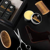 Maybeau Beard Kit For Men Set Of 8 Beard Growth Grooming &Amp; Trimming With Unscented Leave-In Conditioner Oil,Beard Shaping, Beard Balm Butter Wax, Brush And Mustache Comb Ultimate Trimmer Set For Men