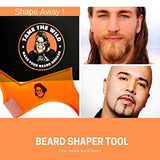 Tame'S Superior Beard Shaping Tool - New For 2019 - Multi Shape Beard Guide For Any Style - Built In Comb For Grooming - Beard Shaper With Beveled Edges &Amp; Measurement Lines For Precise Trimming