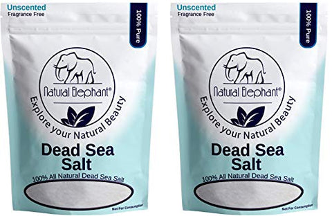 Dead Sea Salt 20 Lb (2 10Lb Bags) By Natural Elephant