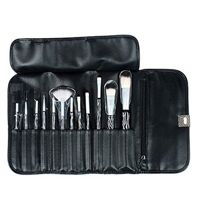 Max 12Pcs Makeup Portable Brush Set With Cosmetic Bag