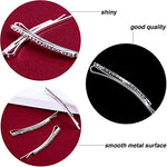 Tecunite 16 Pieces Rhinestone Bobby Pin Metal Hair Clips Clear Crystal Hair Pin Decorations For Lady Women Girls