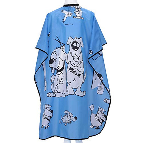 Kahot Haircut Salon Hairdressing Cape For Kids Child Styling Polyester Smock Cover Waterproof Shampoo &Amp; Cutting Household Capes With Snap Closure,37 51  (Blue Dalmatian)