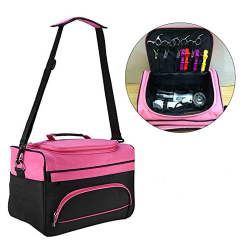 Hairdressing Tools Storage Carrying Case, Hairdresser Designer Session Bag Large Mobile Hair Salon Kit Holder