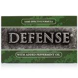 Defense Soap, Peppermint, 4 Ounce Bar  - 100% Natural And Herbal Pharmaceutical Grade Tea Tree Oil