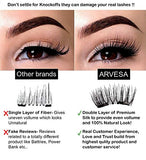 Arvesa 8X False Magnetic Eyelashes Full Set [With Applicator, Brush And Ebook] The Best Fake Eye Lashes Magnet - Dual Magnets Silk Eyelash Extensions - Natural Look | No Glue, Reusable