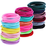 Tecunite 200 Pieces Multicolor Tiny Baby Girls Hair Ties No Crease Hair Bands Bulk Elastics Ponytail Holders, 2 Mm In Thickness, 2.5 Cm In Diameter