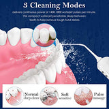 [Newest 2019] Cordless Water Flosser Teeth Cleaner - Zerhunt High Plus Rechargable Portable Oral Irrigator For Travel, Ipx7 Waterproof Dental Water Jet For Shower With 3 Interchangeable Jet Tips