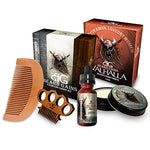 Valhalla Complete Viking Scented Beard Bundle Kit - Beard Oil, Balm, Soap, Mustache Comb &Amp; Beard Comb - Beard Gains