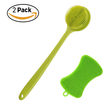 Silicone Bath Body Soft Brushes Long Handle Shower Brush For Sensitive And All Kind Skins