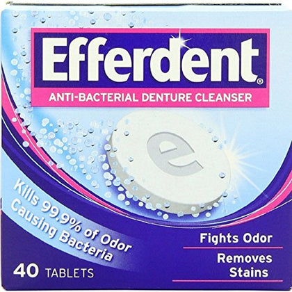 Efferdent Denture Tablets 40Tb Emerson Healthcare