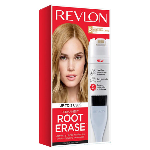 Revlon Root Erase Permanent Hair Color, Root Touchup Hair Dye, Medium Blonde, 3.2 Fluid Ounce