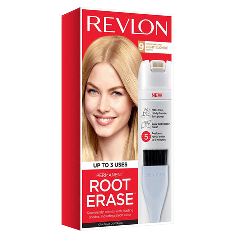 Revlon Root Erase Permanent Hair Color, Root Touchup Hair Dye, Light Blonde, 3.2 Fluid Ounce