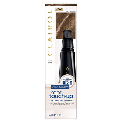 Clairol Root Touch-Up, Color Blend Gel 6 Light Brown, 2Count