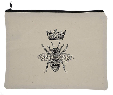 "Buttercup Usa Canvas Cosmetic Makeup Bag, 8X10.5"", Sassy Sayings, (Queen Bee)"