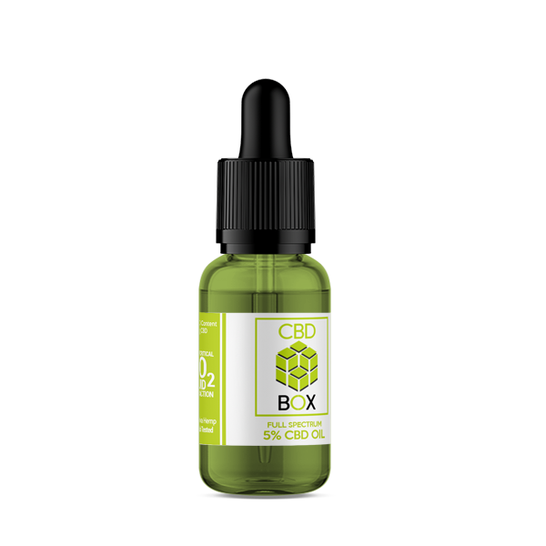 The CBD Box - 5% 500mg CBD Oil