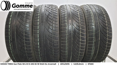 Pneumatici Gomme Usate MOMO TIRES Suv Pole W4 M+S 235 55 18 104H XL Invernali