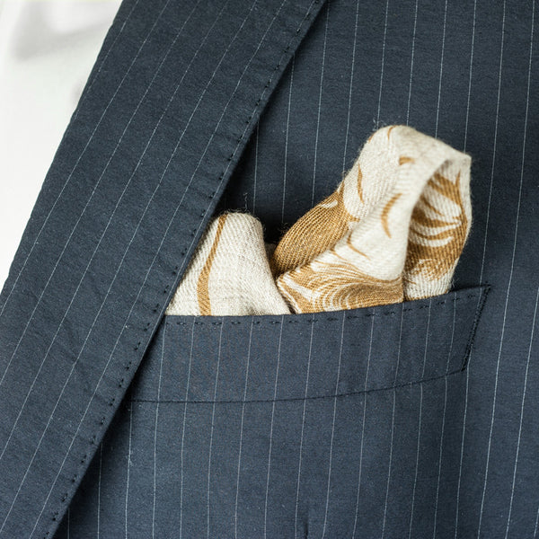 SANS N°034. 'THE C**'T LIST 002'. Pocket Square (print in curry)