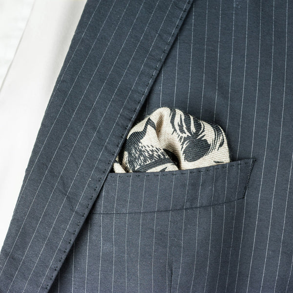 SANS N°034. 'THE C**'T LIST 005'. Pocket Square (print in black)